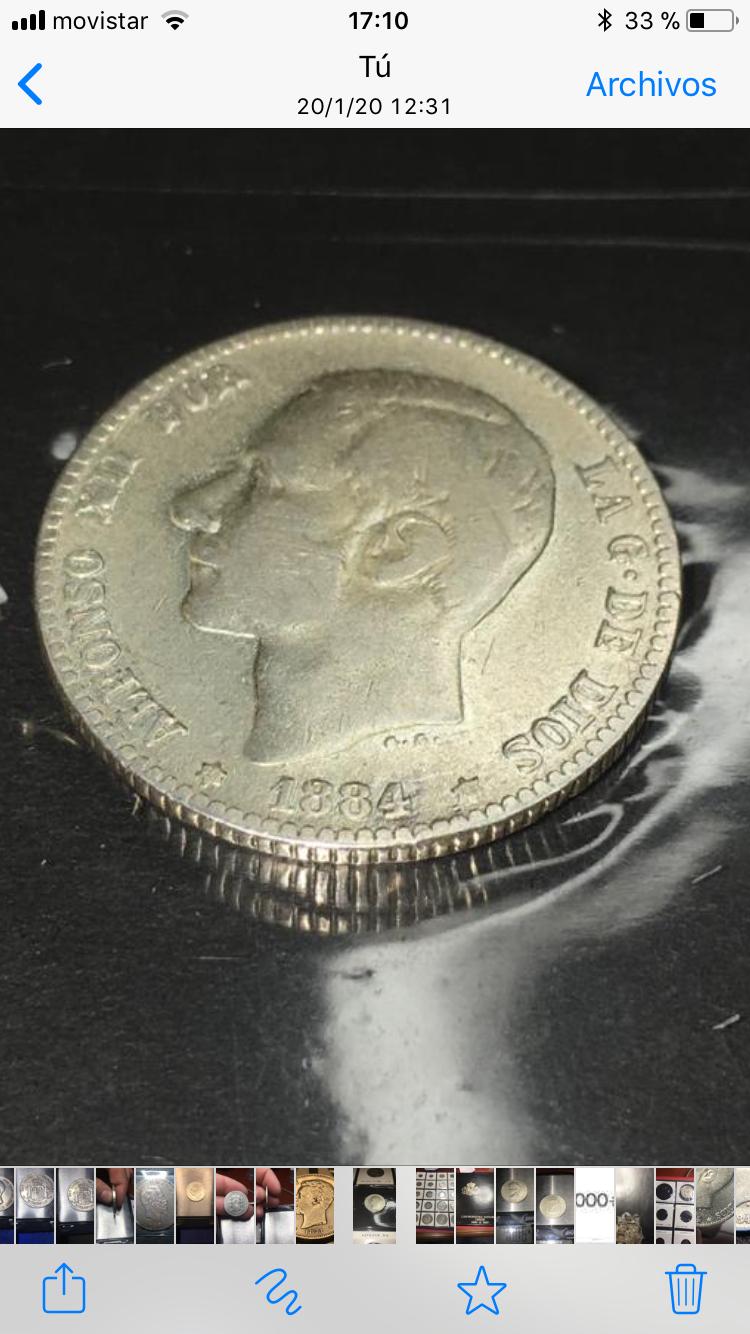 1 peseta 1884 MBC+ 1-pts-1884
