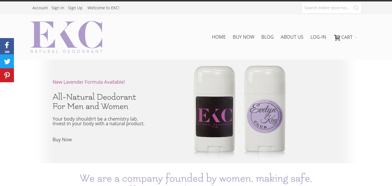 The EKC Deodorant travel product recommended by Tabitha Ziegmann on Pretty Progressive.