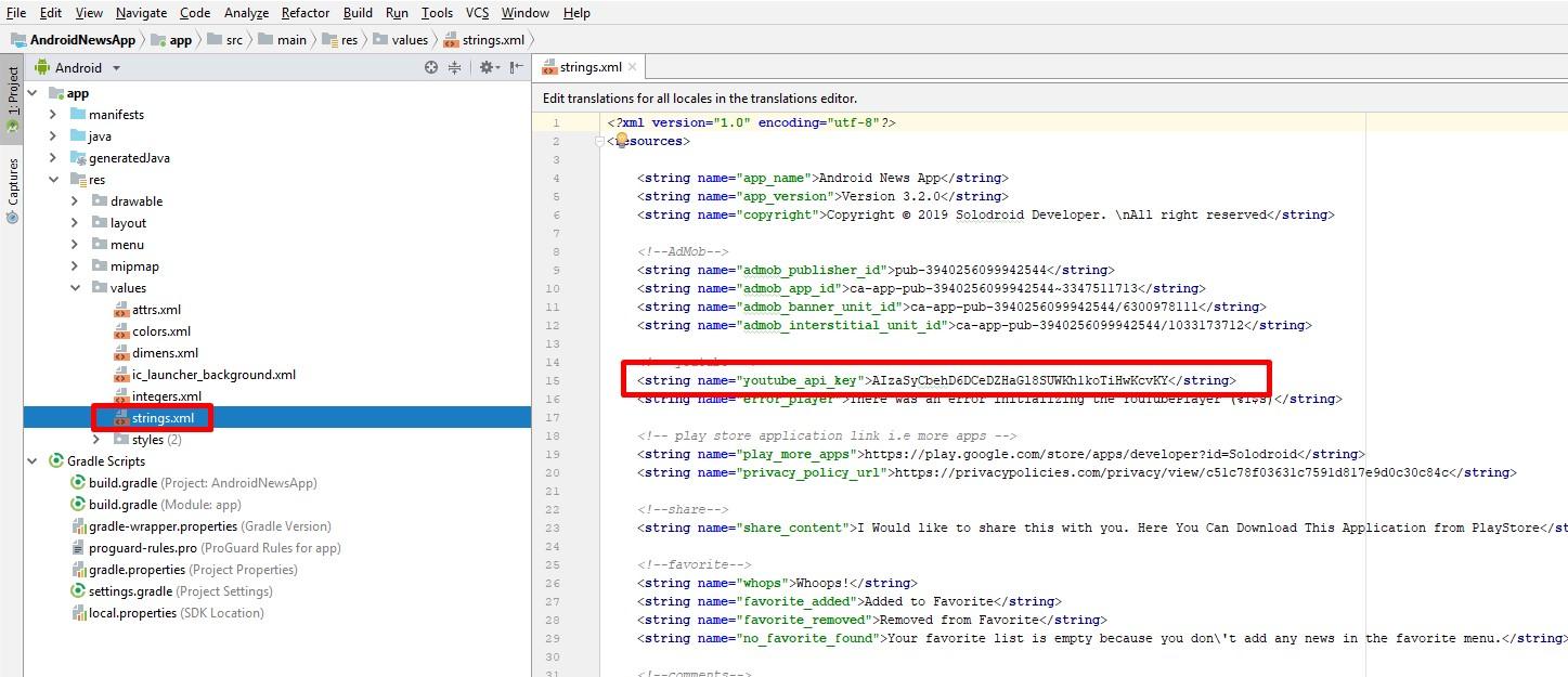 Get YouTube API Key – Solodroid Developer
