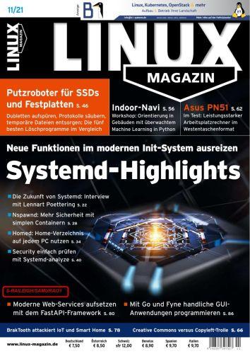Cover: Linux Magazin No 11 November 2021