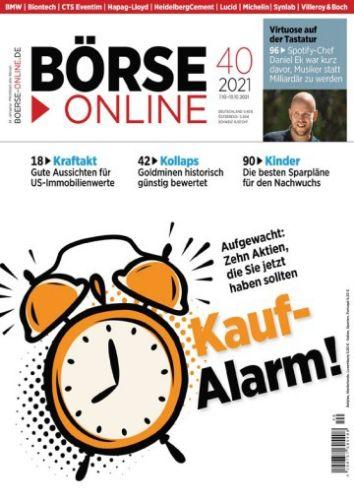 Cover: Börse Online Magazin No 40 vom 07  Oktober 2021