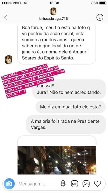 """Atriz que interpretou Laura em """"O Outro Lado do Paraíso"""" vai para as ruas em pleno Natal para compartilhar solidariedade"""