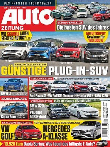 Cover: Auto Zeitung Magazin No No 22 vom 13  Oktober 2021