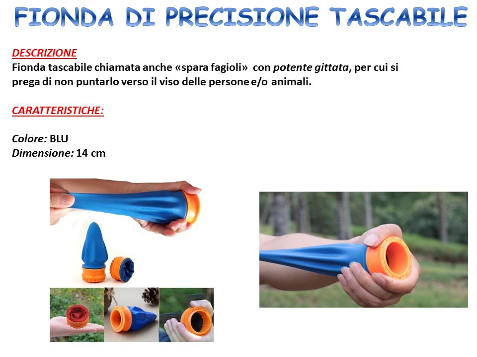 FIONDA DI PRECISIONE PROFESSIONALE TASCABILE SPARA FAGIOLI DA TIRO CACCIA REGALO