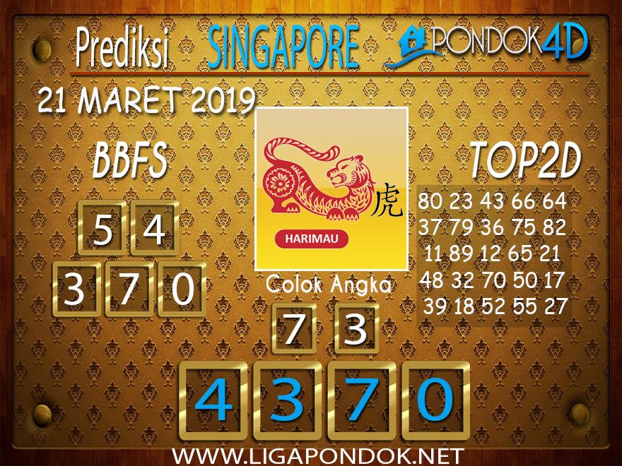 Prediksi Togel  SINGAPORE  PONDOK4D 21  MARET 2019