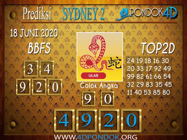 Prediksi Togel SYDNEY 2 PONDOK4D 18 JUNI 2020