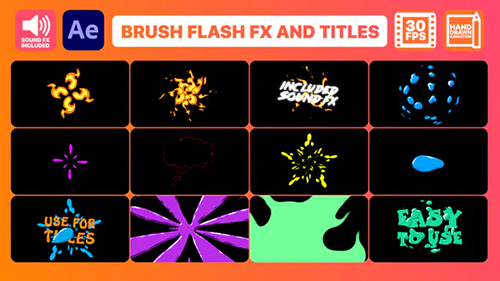 Brush Flash FX Pack And Titles | After Effects 32899607 - Project & Script (Videohive)