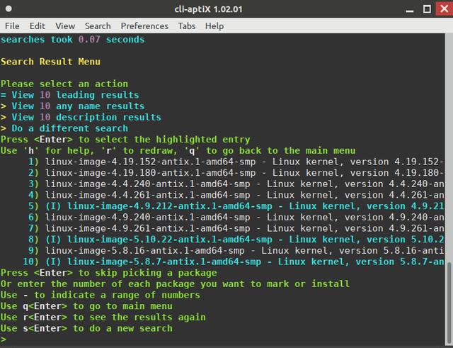 cli-apti-X-kernel