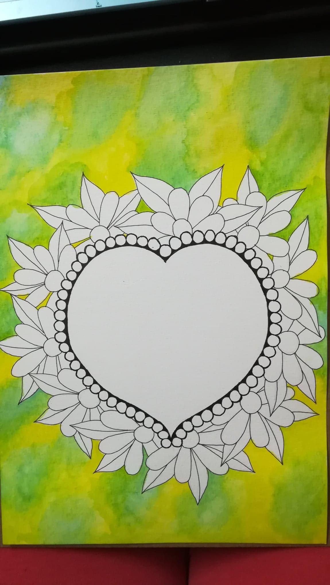 cute heart doodle