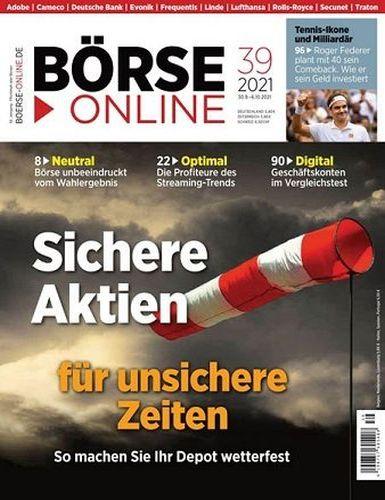 Cover: Börse Online Magazin No 39 vom 30  September 2021