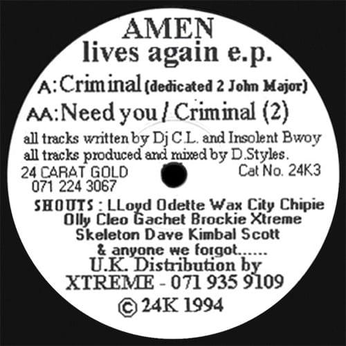 Download DJ C.L. & Insolent Bwoy - Amen Lives Again E.P. mp3