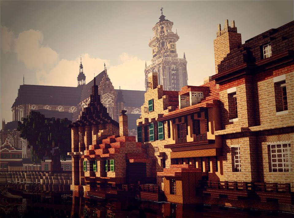 Grote of Sint Laurenskerk, Rotterdam, Zuid Holland, Netherlands Minecraft Map