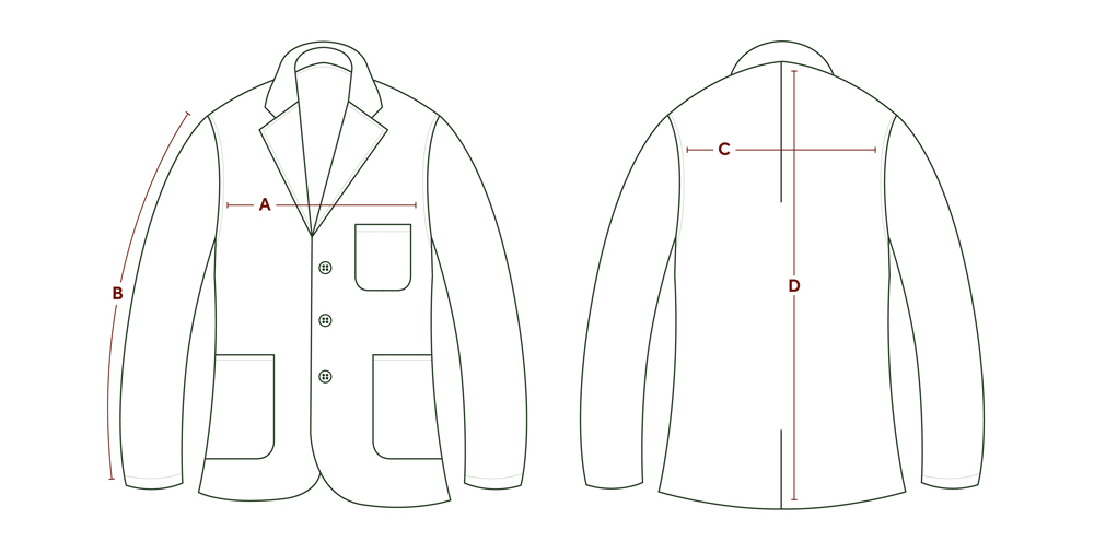 P P Size Diagram Coat