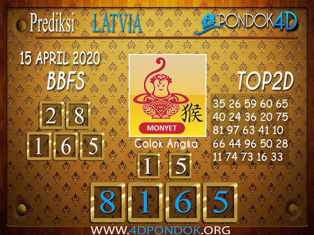 Prediksi Togel LATVIA POOLS PONDOK4D 15 APRIL 2020