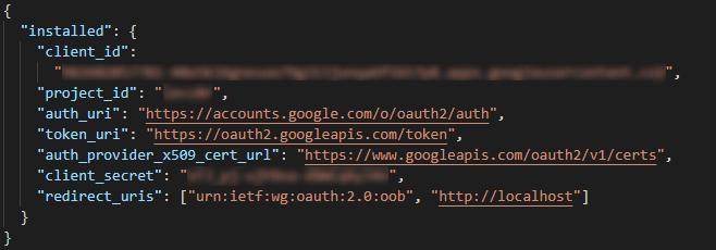 credentials file example