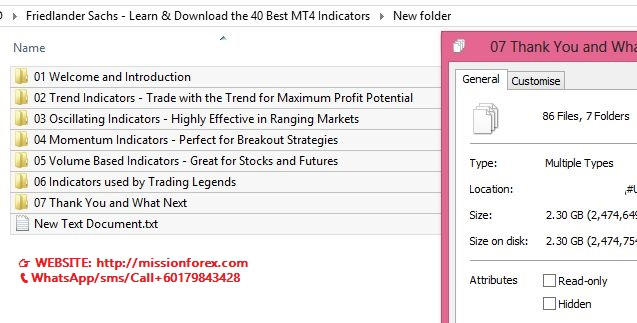 Friedlander Sachs - Learn & Download the 40 Best MT4 Indicators