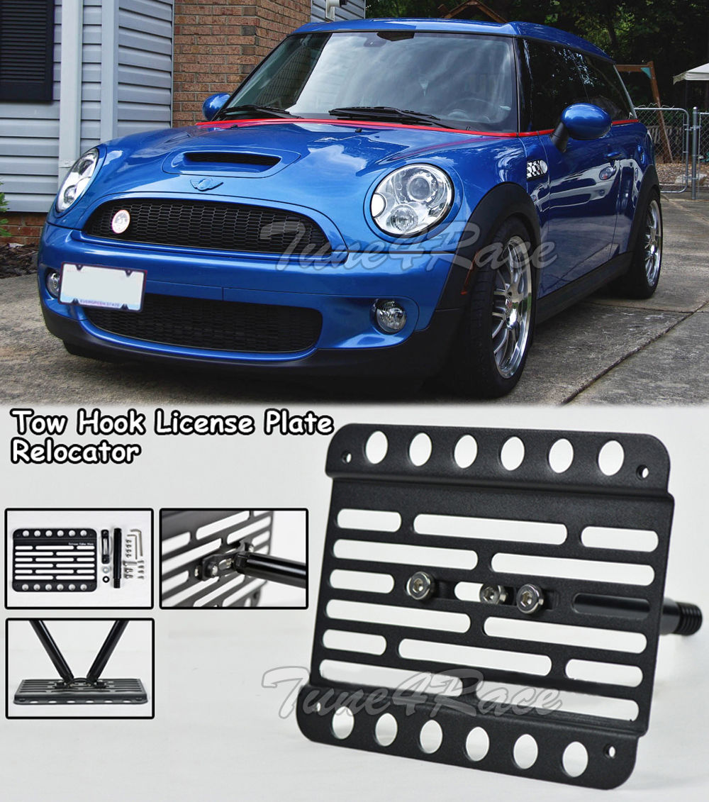For 08 10 Mini Cooper Clubman R55 Front Tow Hook License Plate