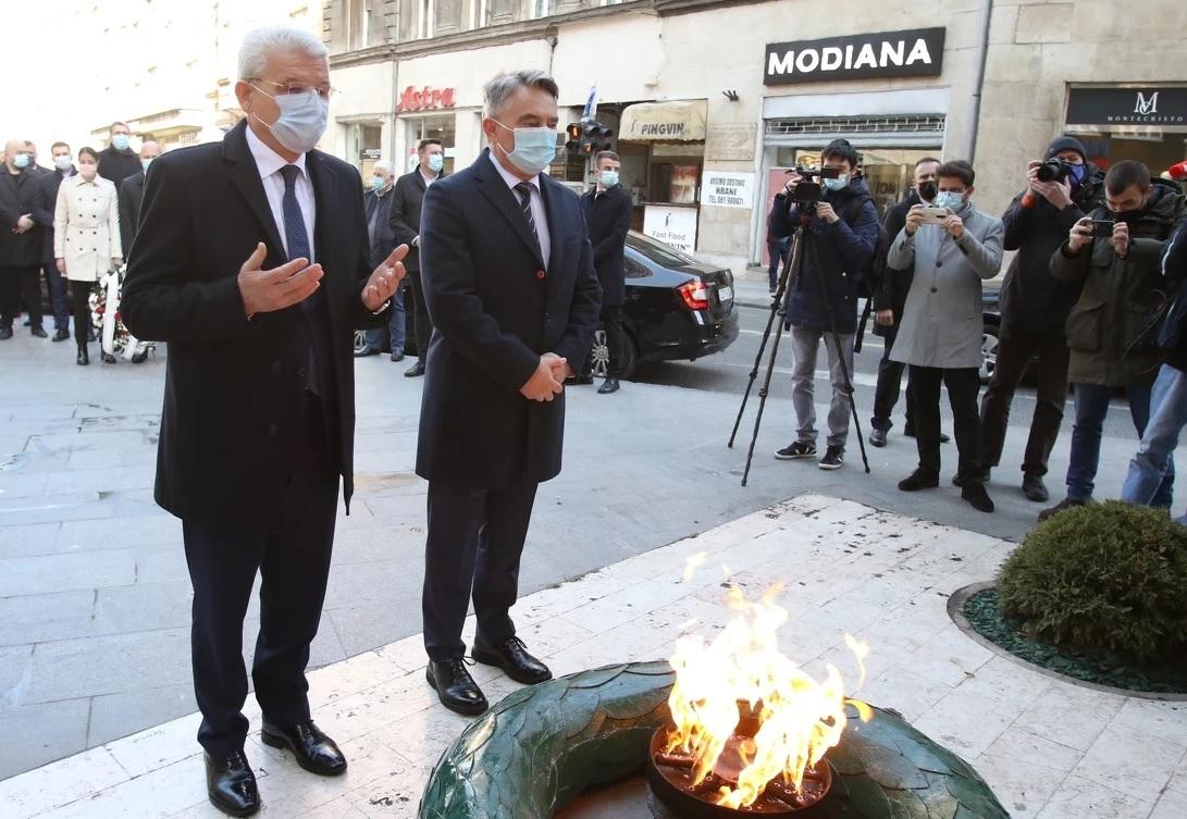 DANAS JE 6. APRIL – DAN GRADA SARAJEVA! Ispred Vječne vatre i na Kovačima položeni vijenci: 'Sarajevo je uvijek imalo hrabrosti da se odupre svima koji su nosili civilizacijsko zlo'