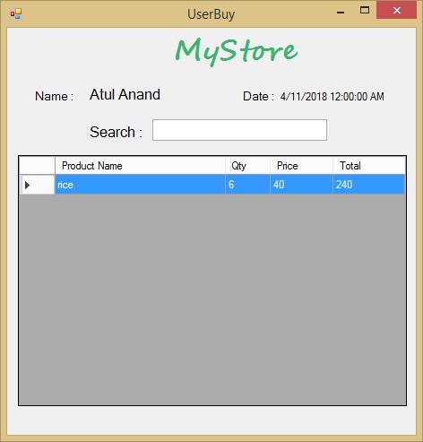 Gestion du magasin en C# avec code source