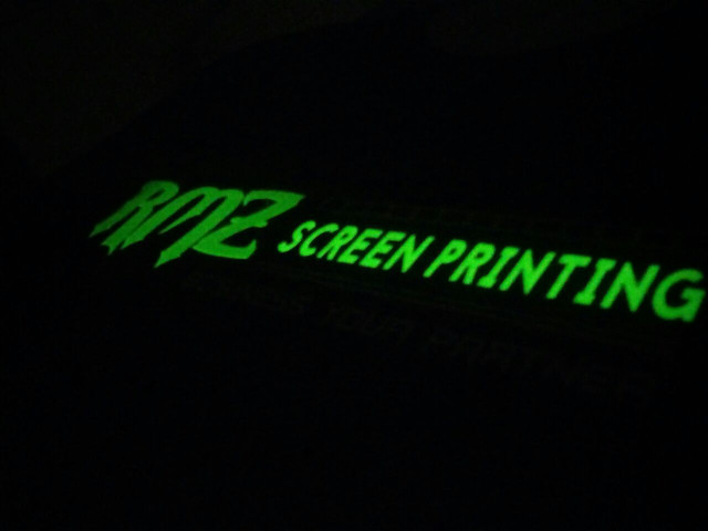sablon glow in the dark