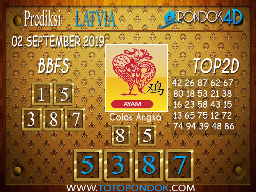 Prediksi Togel LATVIA POOLS PONDOK4D 02 SEPTEMBER 2019