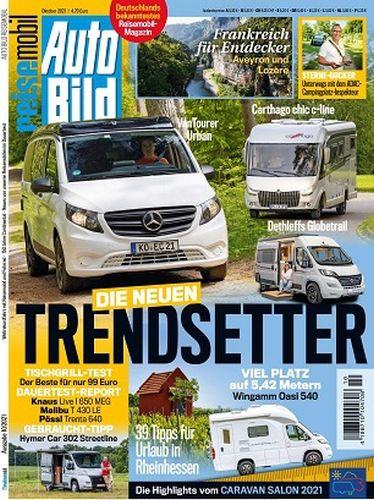 Cover: Auto Bild Reisemobil Magazin No 10 Oktober 2021