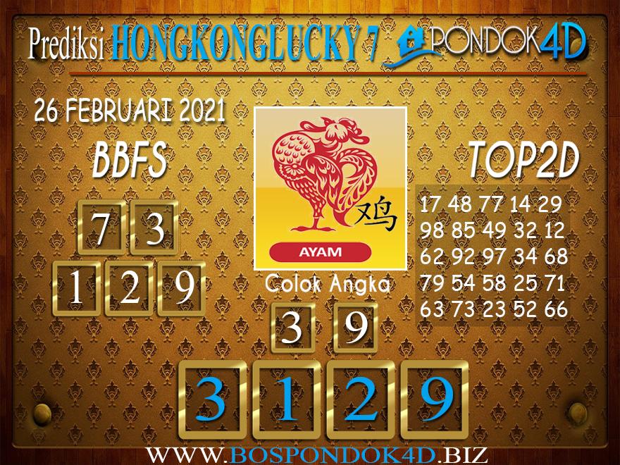 Prediksi Togel HONGKONG LUCKY 7 PONDOK4D 27 FEBRUARI 2021