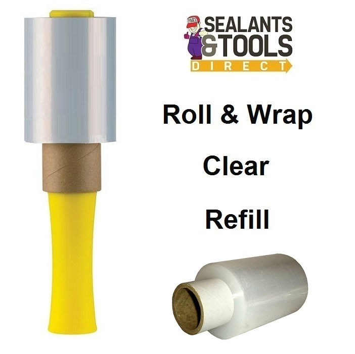 Roll & Wrap Mini Clear Stretch Hand Wrap Refill 100mm