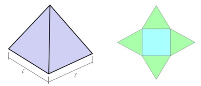 Pirâmide - área lateral  Image