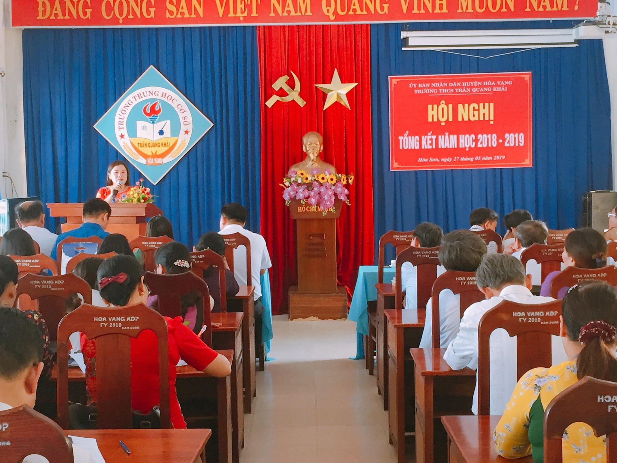 Hội nghị tổng kết năm học 2018 - 2019