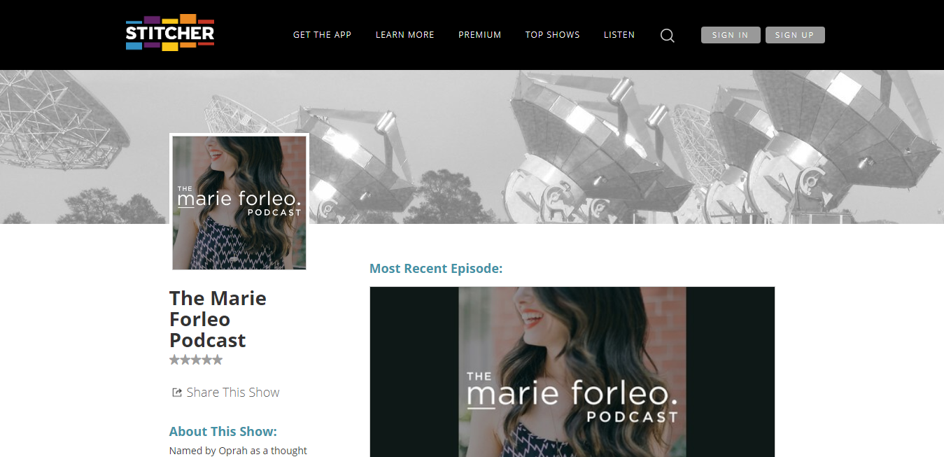The The Marie Forleo Podcast travel product recommended by Elise Armitage on Pretty Progressive.