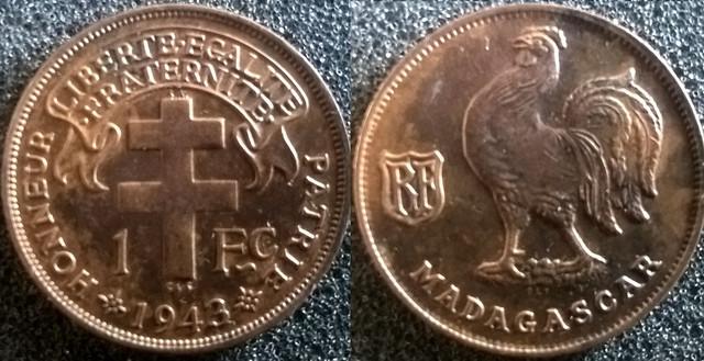 Madagascar 1 F 1943