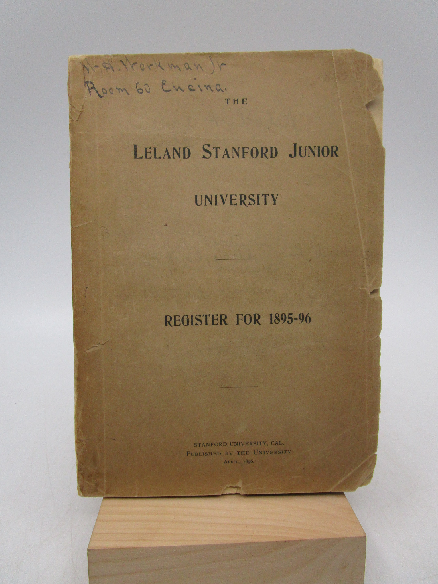 Image for The Leland Stanford Junior University: Fifth Annual Register 1895-96 (First Edition)