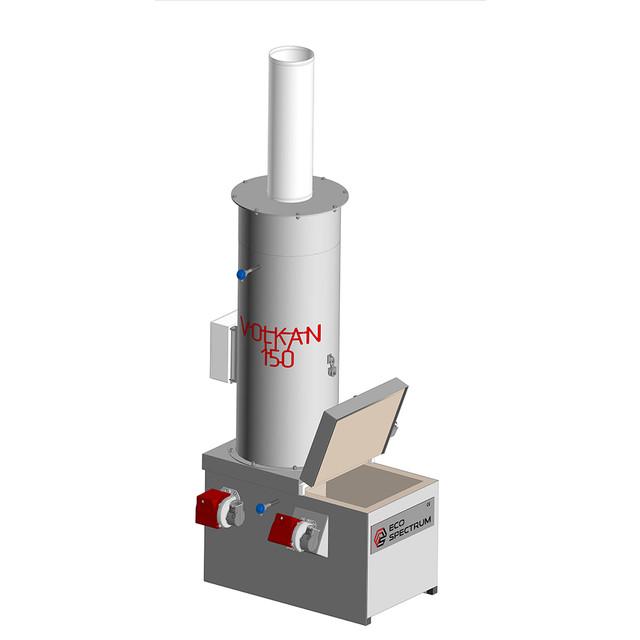 Инсинератор VOLKAN 150 - Удобное и безопасное обслуживание