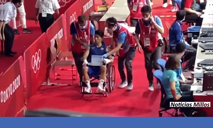 Tanaka salió en silla de ruedas tras la pelea con Yuberjén Martínez en TOKYO 2020