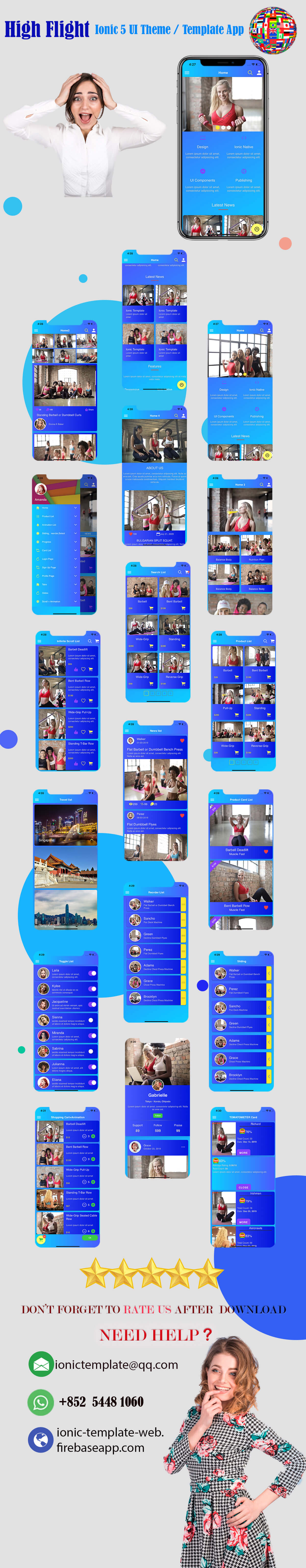 High Flight/Ionic 4 / Angular 8 UI Theme / Template App | Starter App