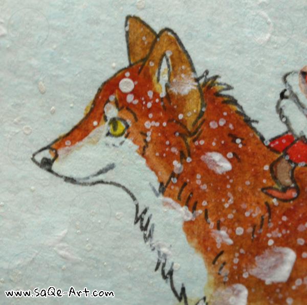 Fox and elf - SaQe-Art.com