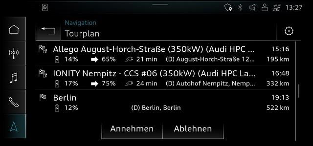 Assistant intelligent pour la conduite électrique: le calculateur d' itinéraire Audi e-tron A207382-medium