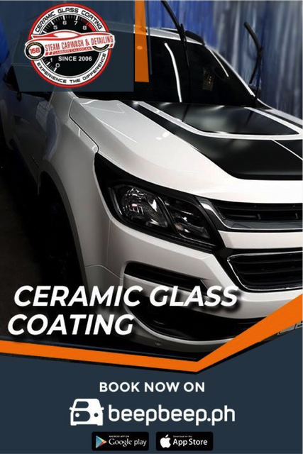 Car Shop Promos: 1000 Off to Ceramic Glass Coating by 168 Steam Carwash and Detailing