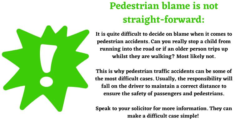 pedestrian blame
