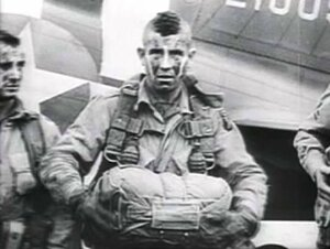 Joseph Beyrle before landing in Normandy. Day D