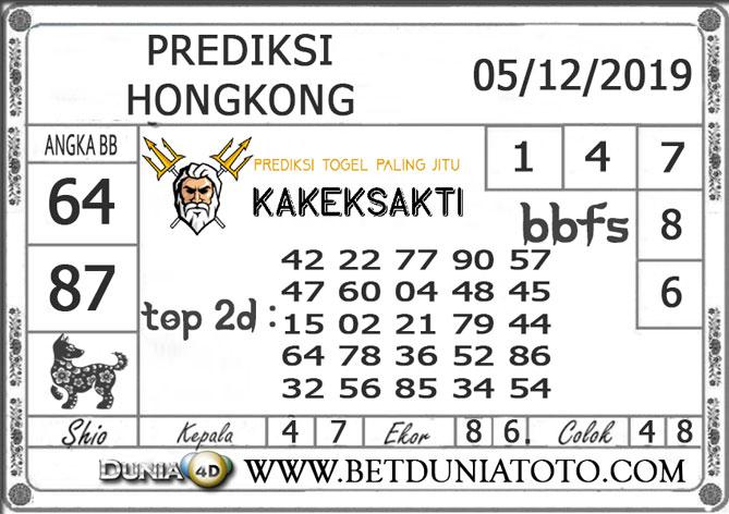 Prediksi Togel HONGKONG DUNIA4D 05 DECEMBER 2019