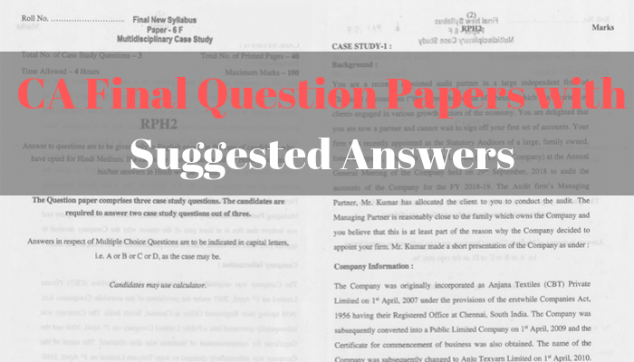 Procedure to Download the CA Final Question Papers with Suggested Answers
