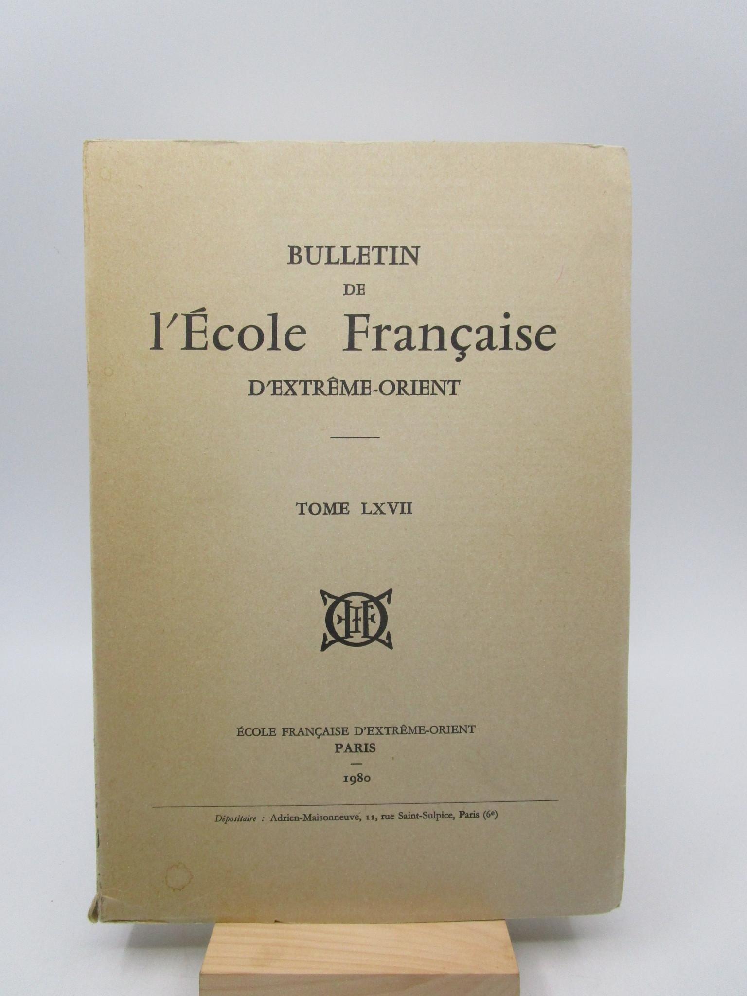 Image for Bulletin de l'Ecole Franaise d'Extrme-Orient, Tome LXVII