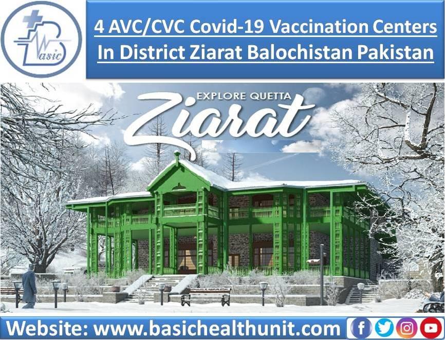 4 AVC/CVC Covid-19 Vaccination Centers In District Ziarat Balochistan Pakistan