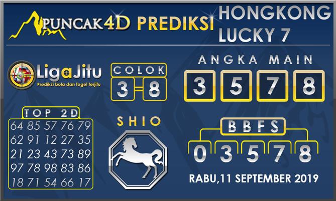 PREDIKSI TOGEL HONGKONG LUCKY7 PUNCAK4D 11 SEPTEMBER 2019