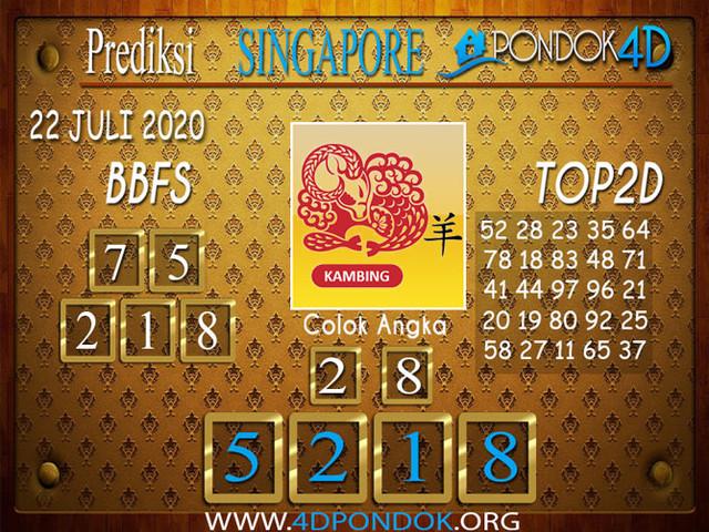 Prediksi Togel SINGAPORE PONDOK4D 22 JULI 2020