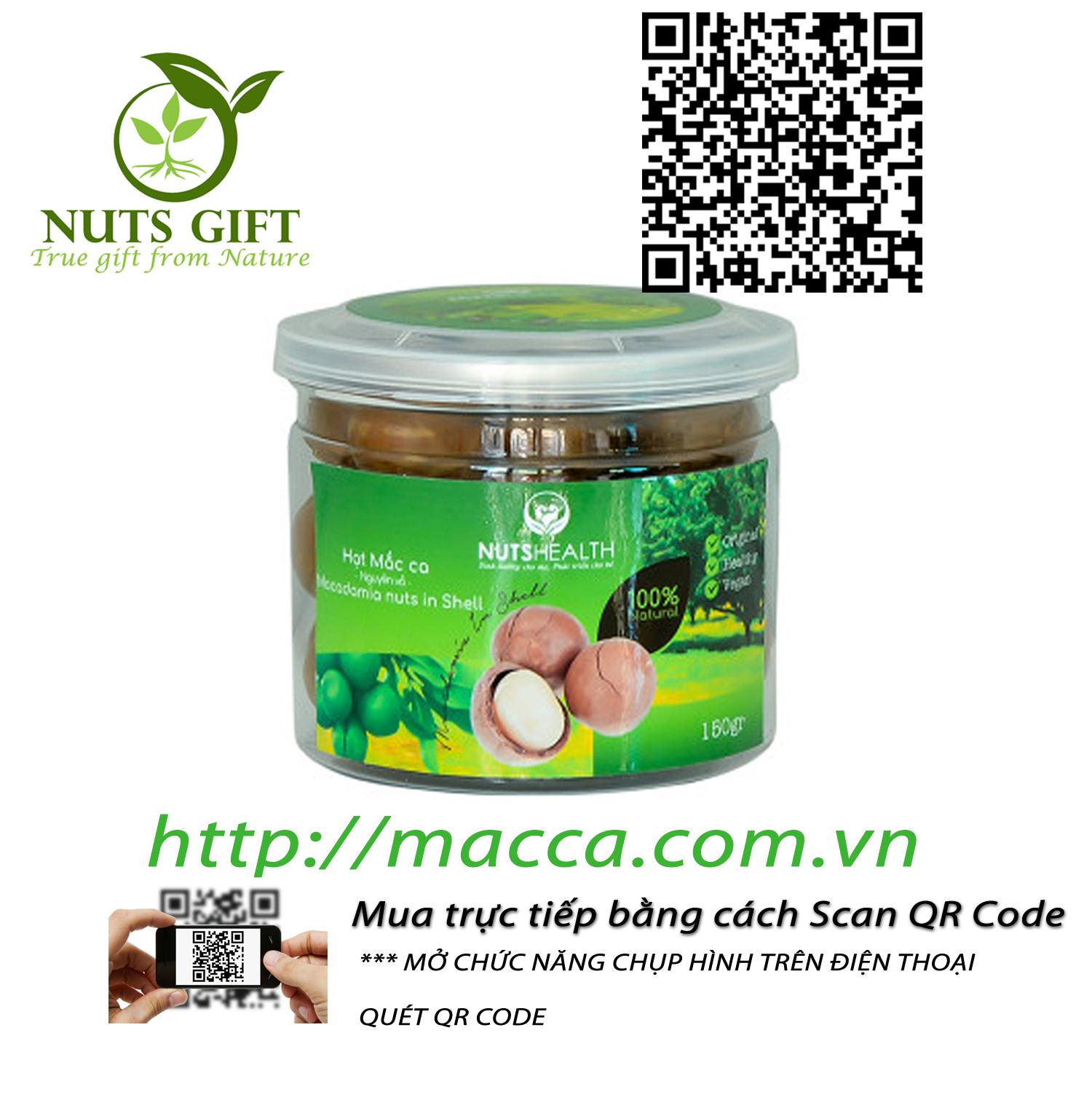 Hạt Macadamia còn vỏ (150g)