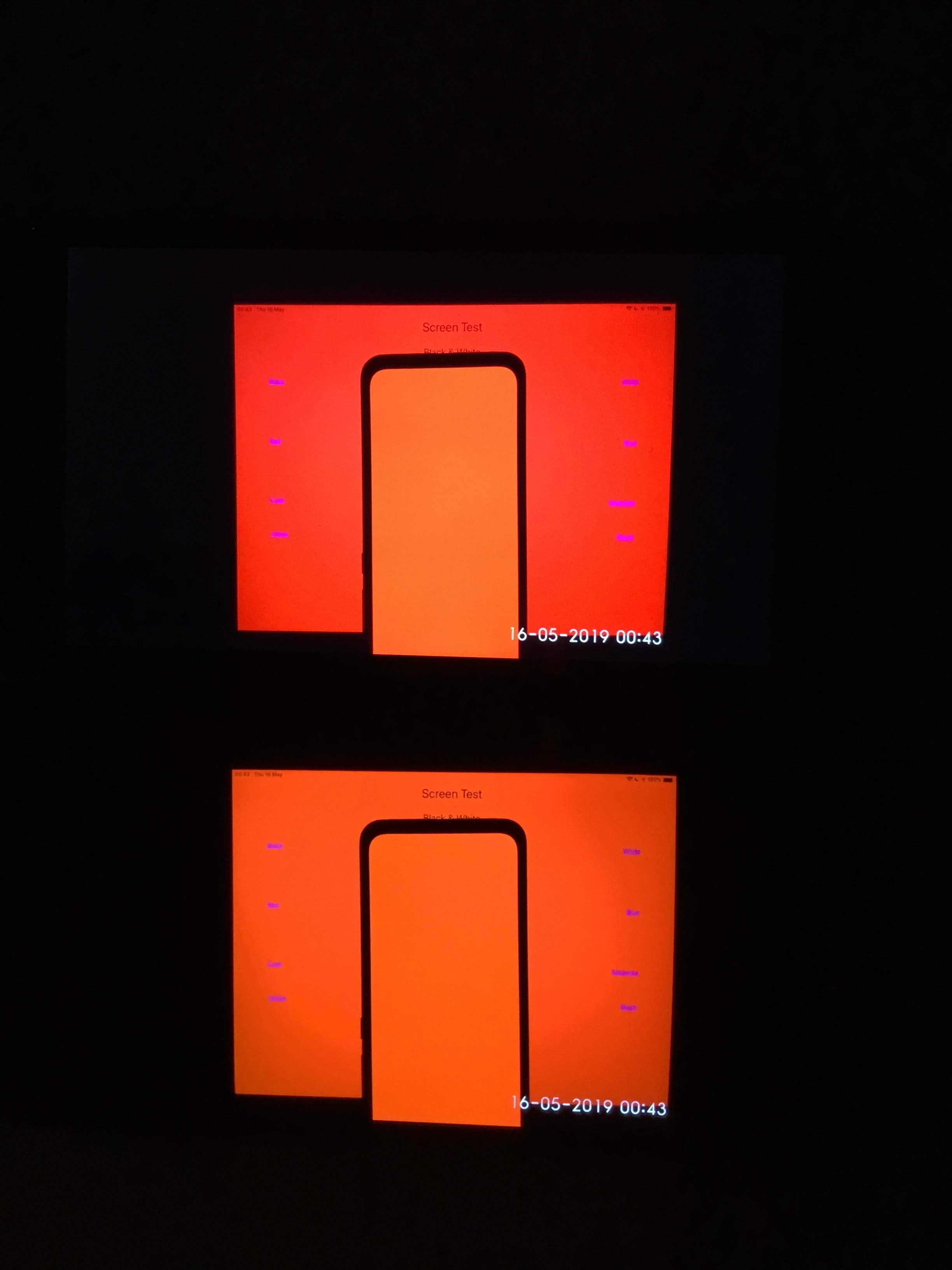 Color RED - LCD vs. AMOLED