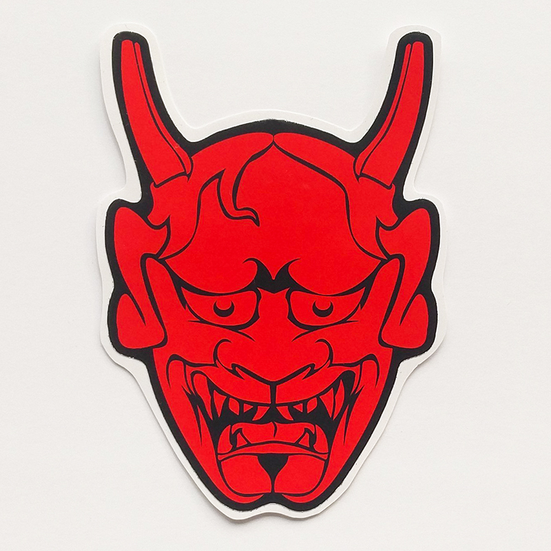 Samurai Mask Sticker Set Vinyl Decal Ronin JDM Car Bike Laptop Oni Anime Japan